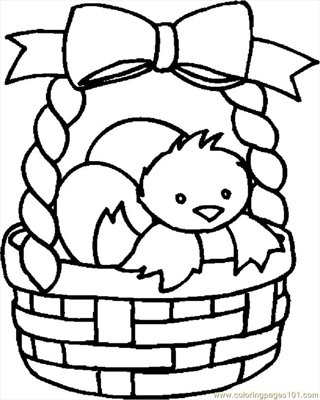 Free Easter Coloring Book Download : Easter basket coloring pages to download and print for free