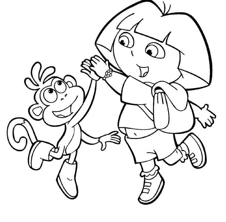 Dora and boots coloring pages to download and print for free
