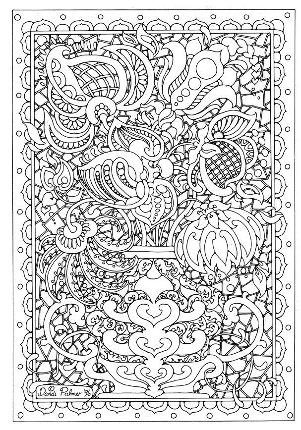 difficult coloring pages for adults to download and print for free - Difficult Coloring Pages Print