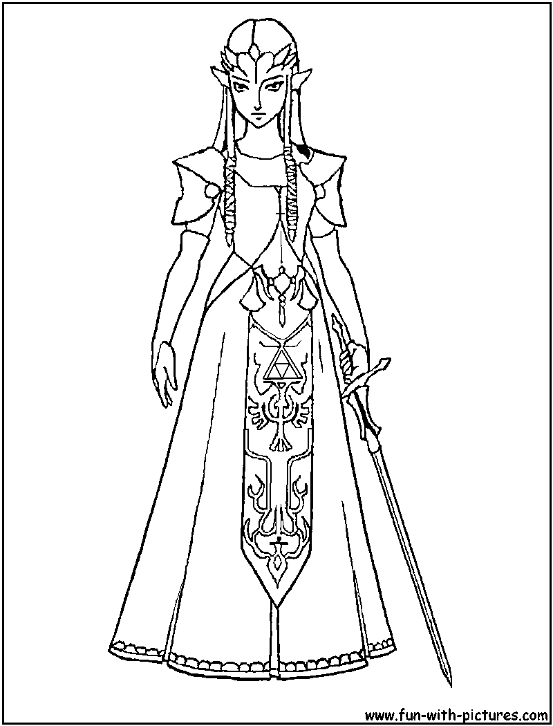 coloring pages zelda - photo#20