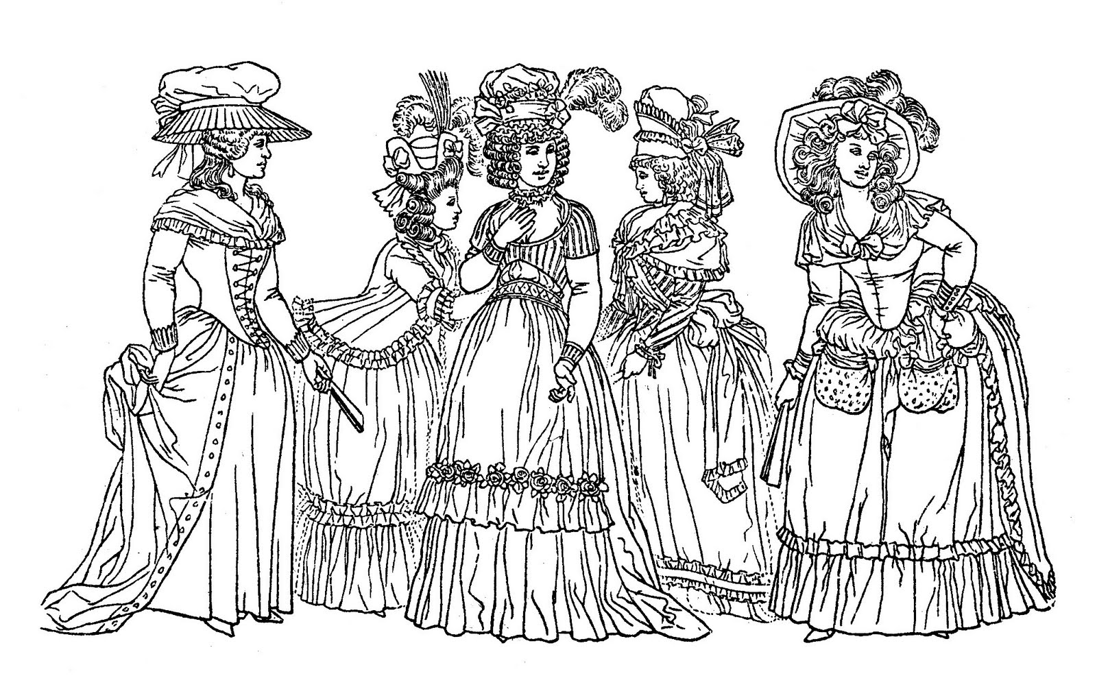 victorian woman coloring pages download and print for free