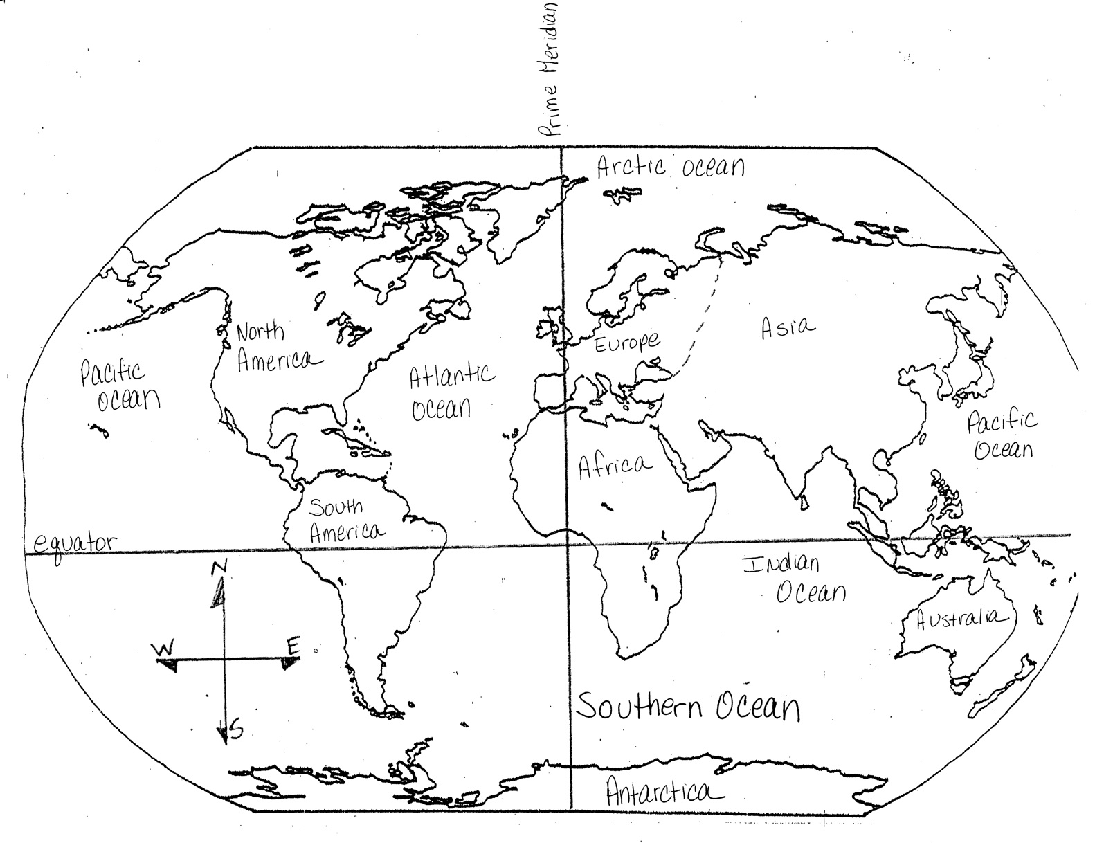 This is a graphic of Challenger Free Printable Continents and Oceans Quiz