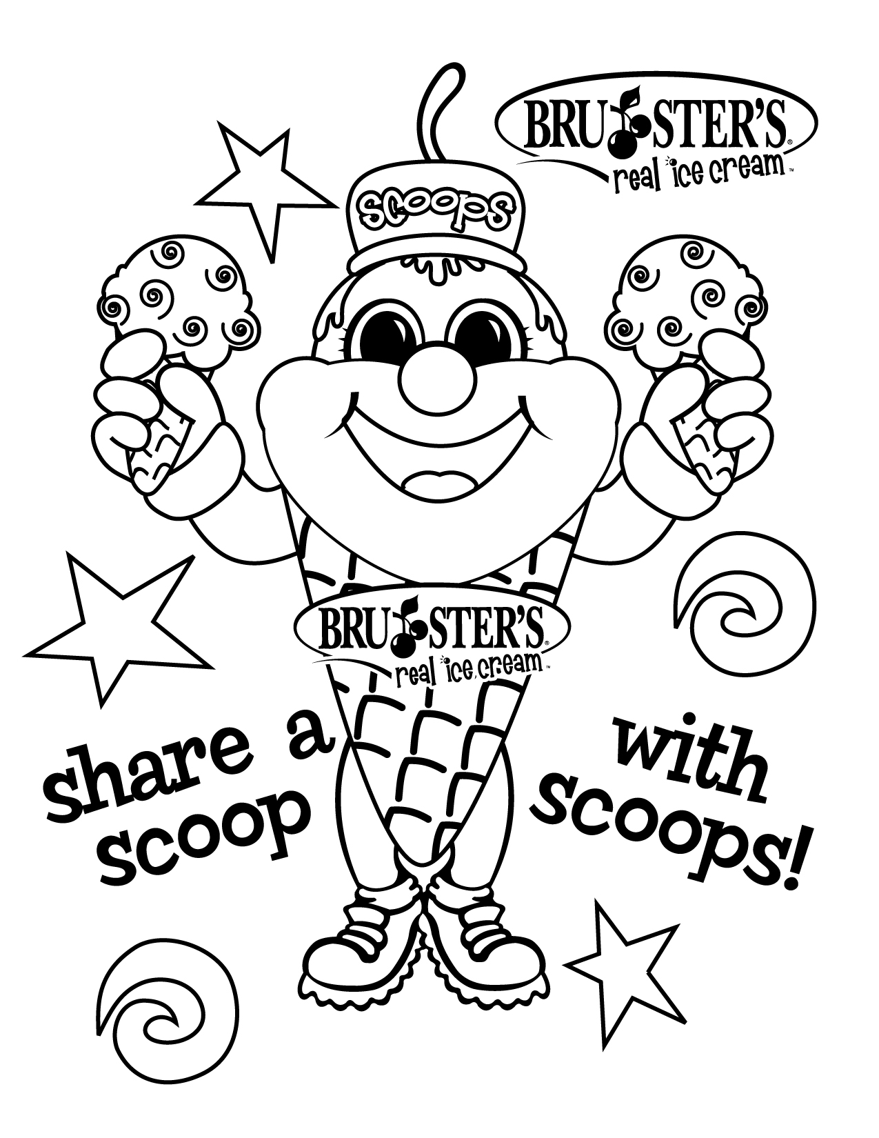 ice cream store coloring pages-#40
