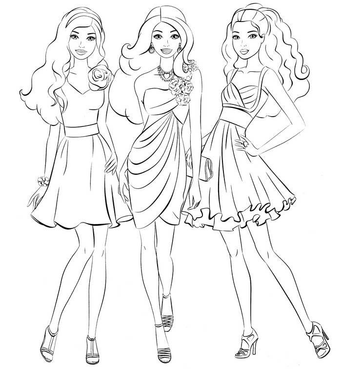 Bratz Barbie Coloring Pages
