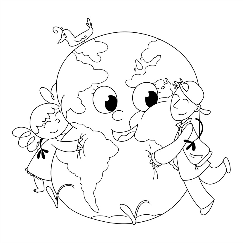 Earth Coloring Pages For Preschoolers. Kindergarten earth day coloring pages download and print for free Stunning Coloring Picture Of Earth Ideas  Example Resume