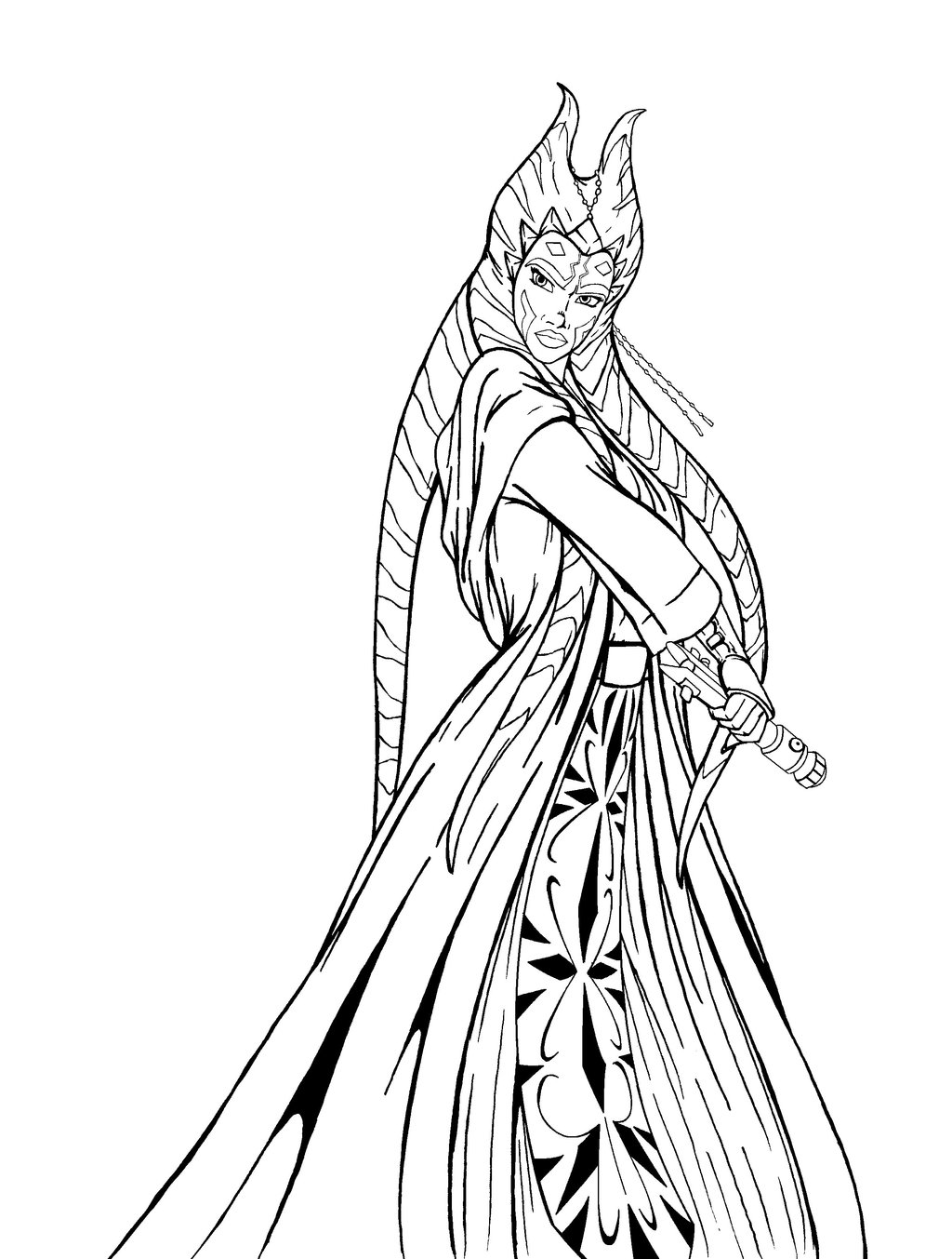 Ahsoka coloring pages download and print for free - Coloriage art ...