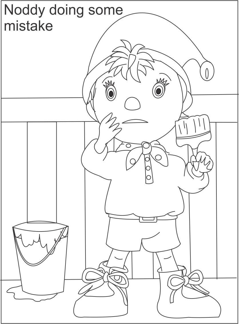 Noddy coloring pages download and