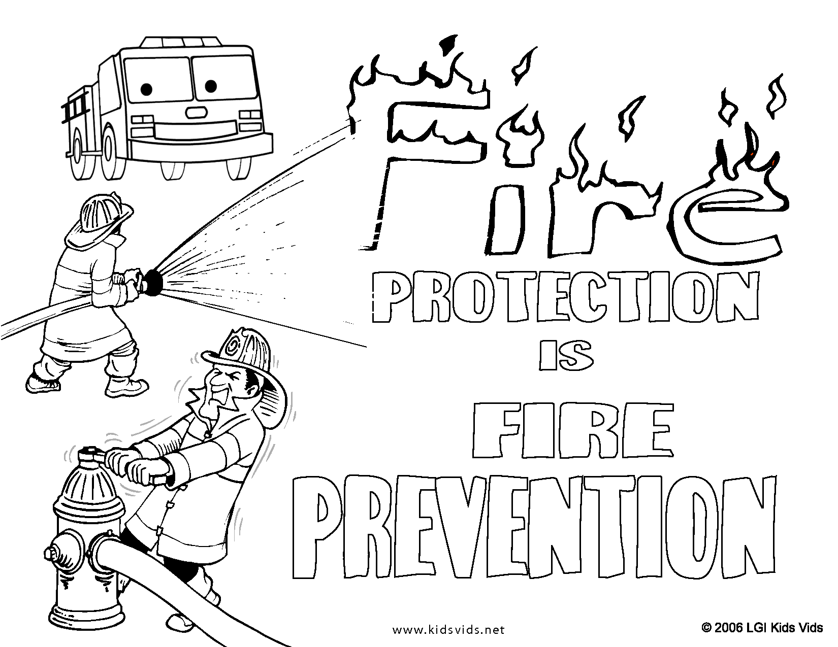 fire prevention coloring pages - photo#19