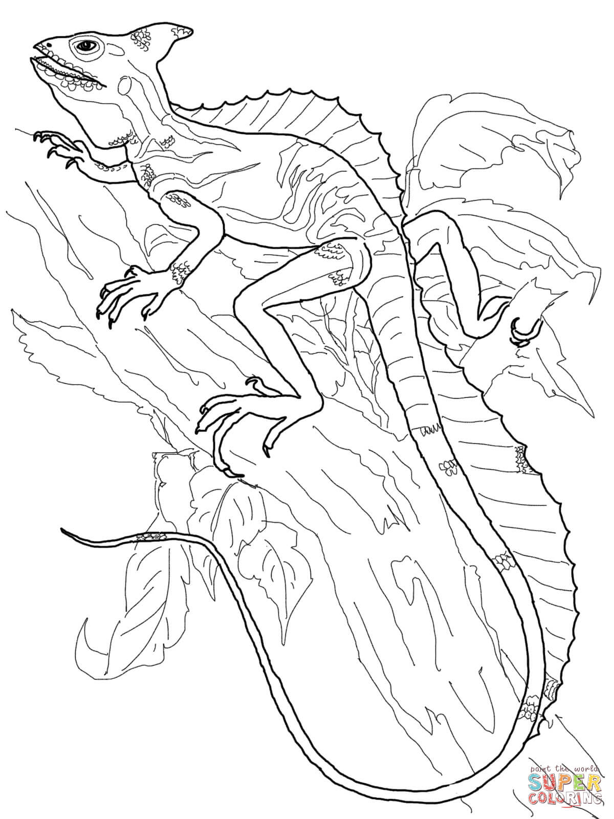 Monitor lizard coloring pages download and print for free for Lizard coloring pages