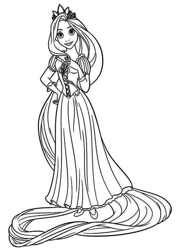 Rapunzel Coloring Pages To Download And Print For Free Rapunzel Tangled Coloring Pages
