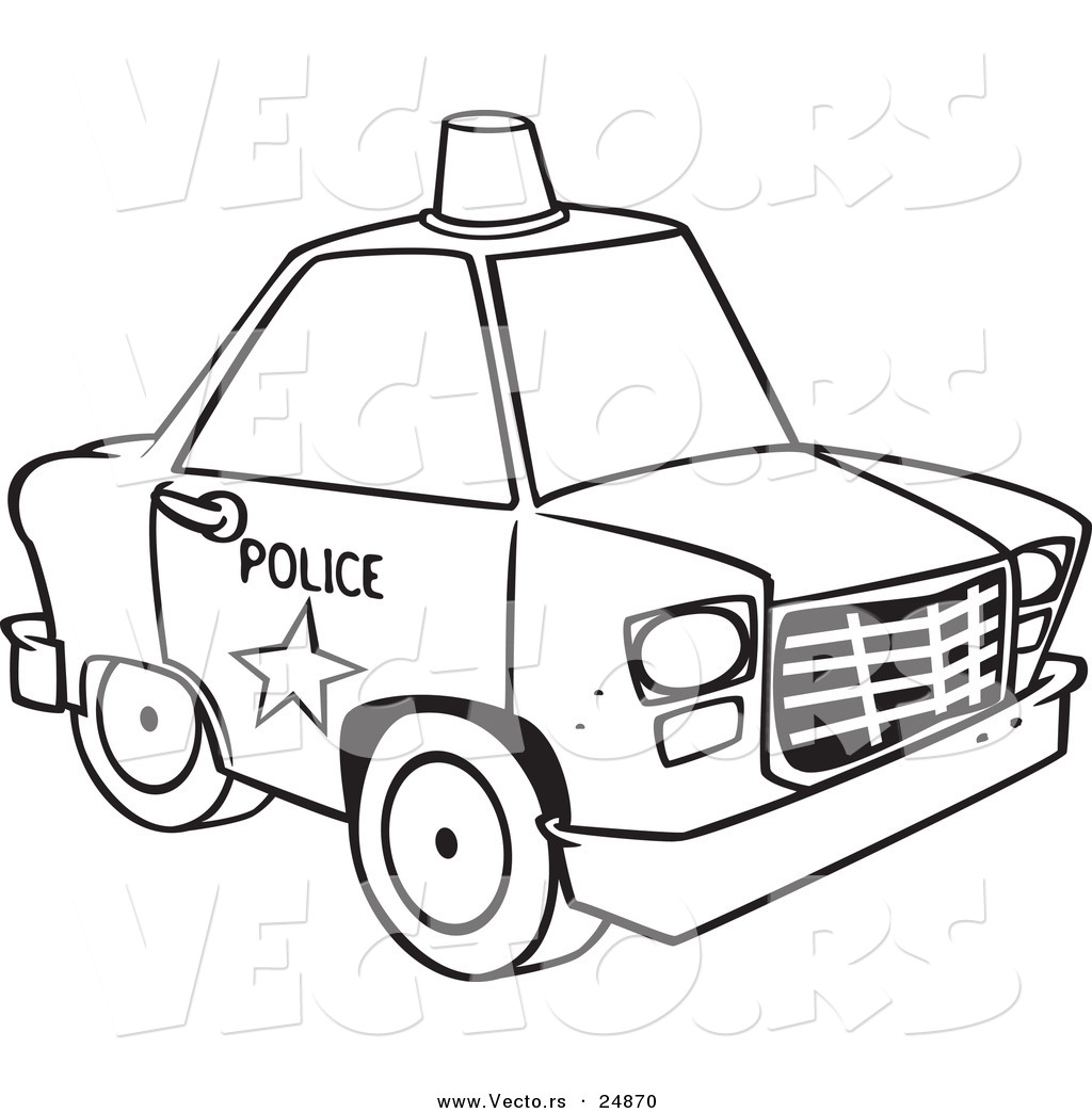 This is a graphic of Bright coloring pages police car