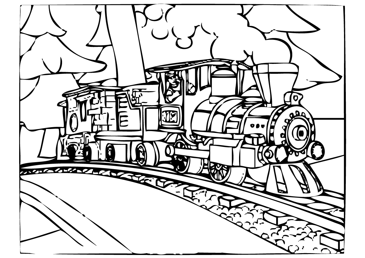 Polar express coloring pages to download and print for free for Santa train coloring page