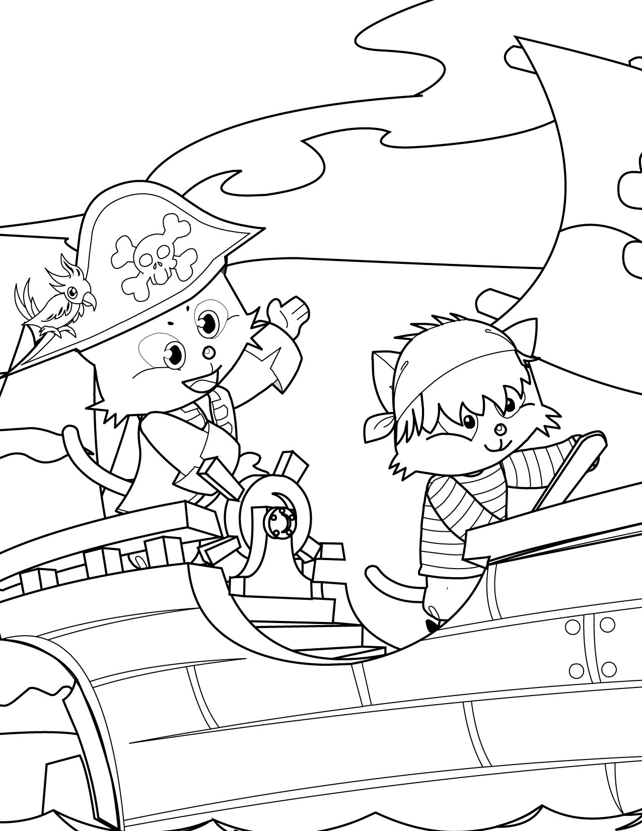 Pirate coloring pages to download and print for free for Coloring pages of pirates