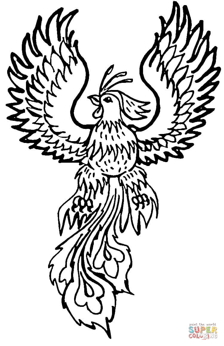 coloring pages of phoenix - photo#2