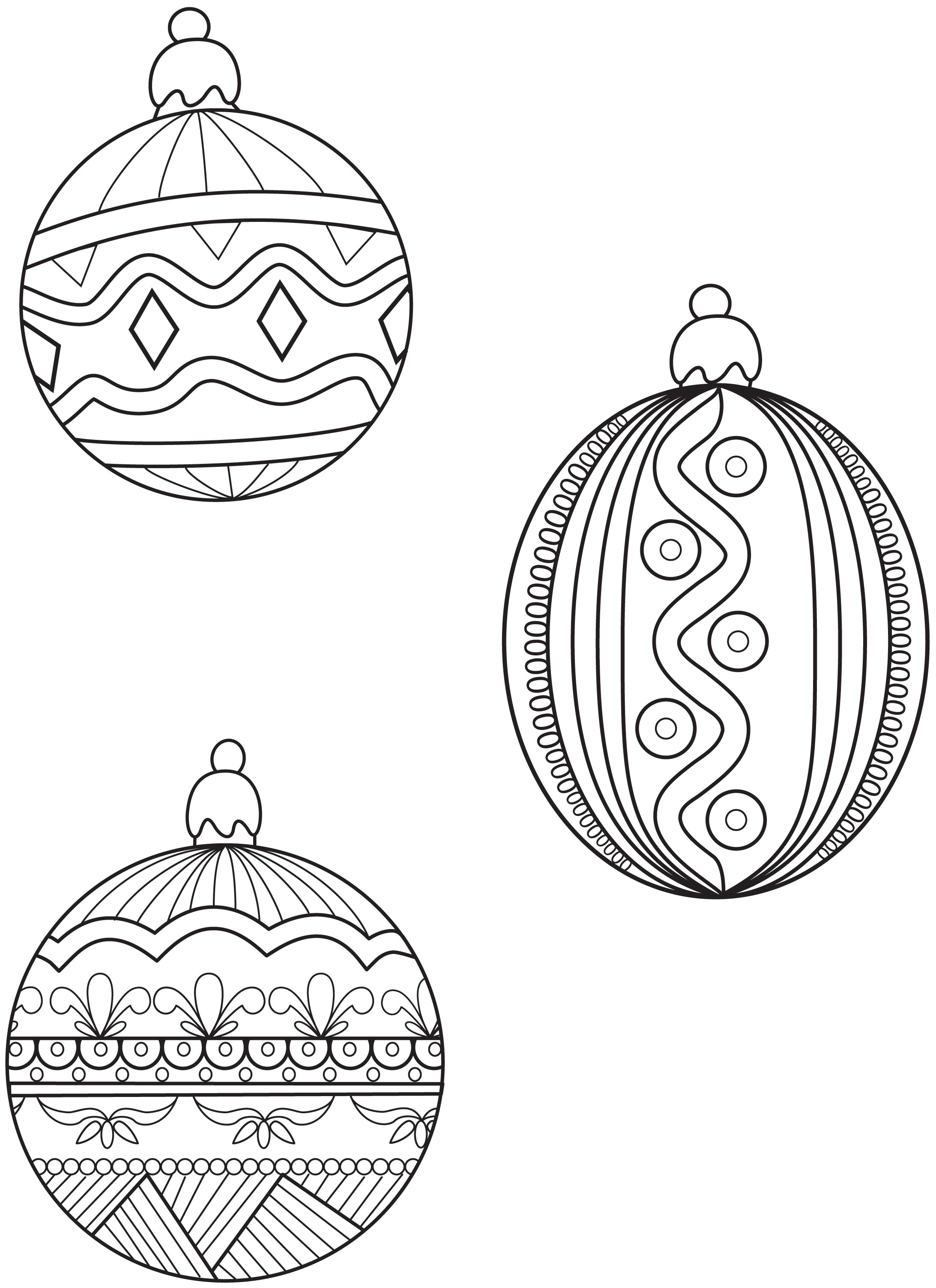 Ornament coloring pages to download