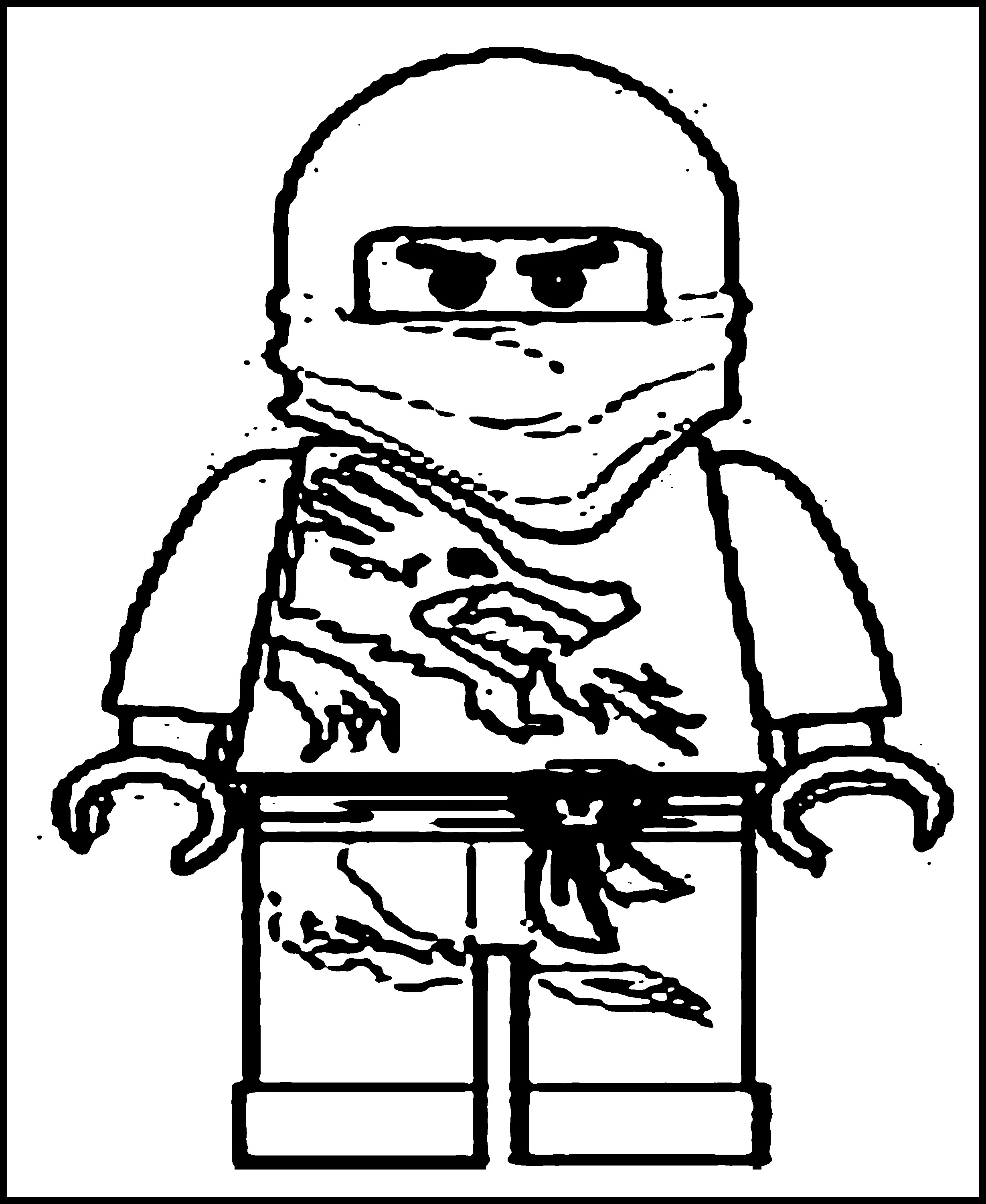 It is a photo of Revered Ninja Coloring Book