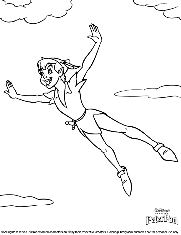 Gallery For gt Peter Pan Coloring Page