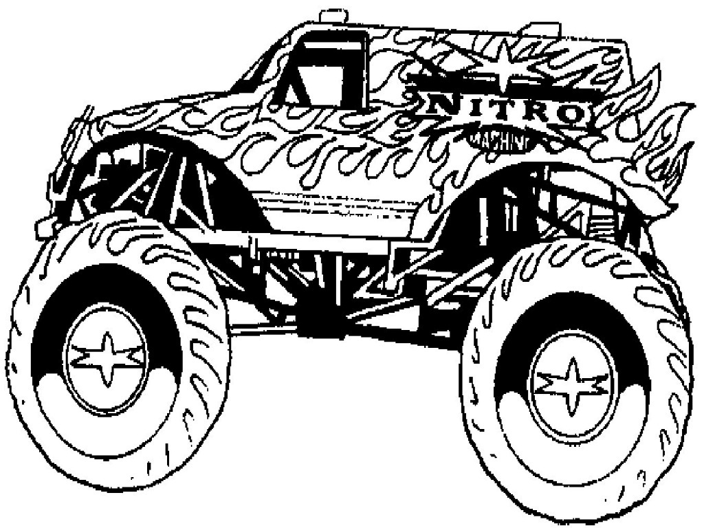 free printable monster truck coloring pages - monster truck coloring pages to download and print for free