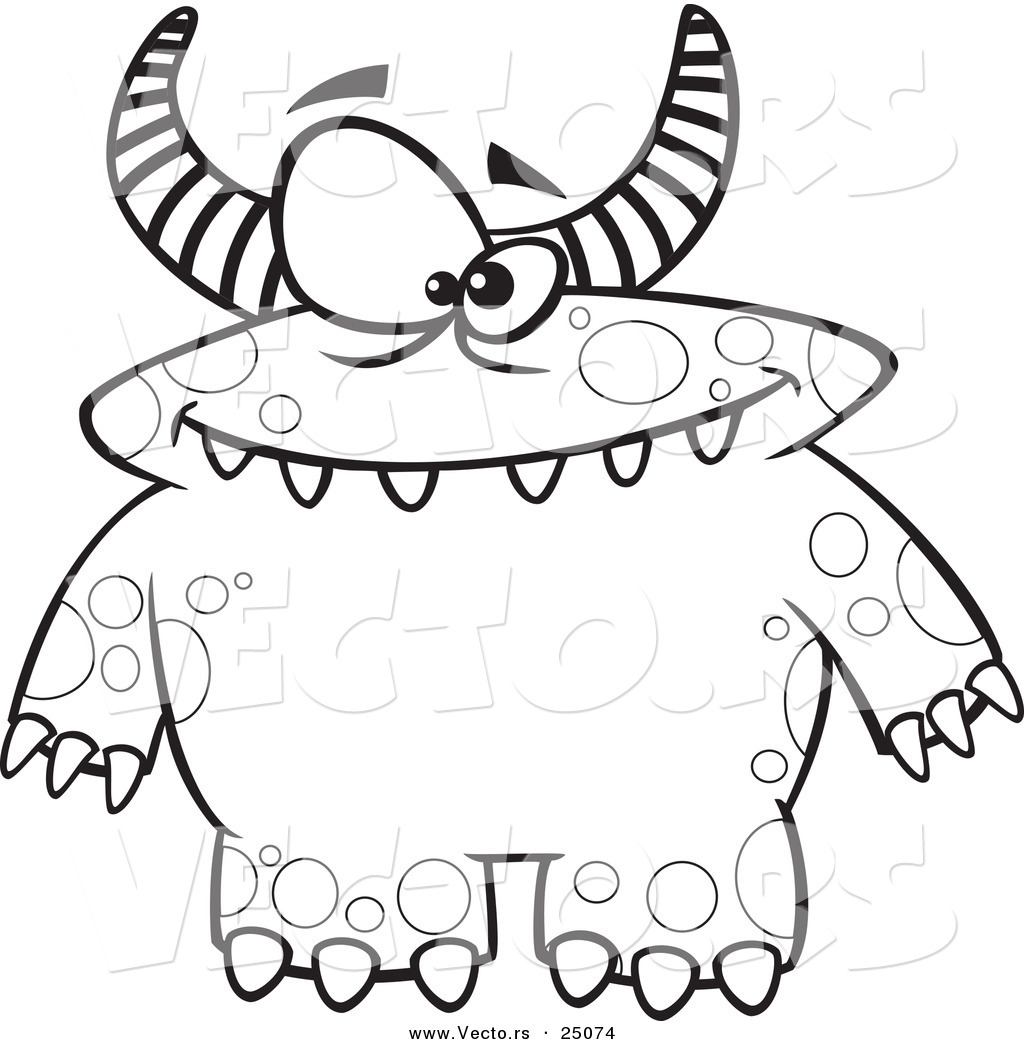 Monster coloring pages to download and print for free for Monster coloring pages