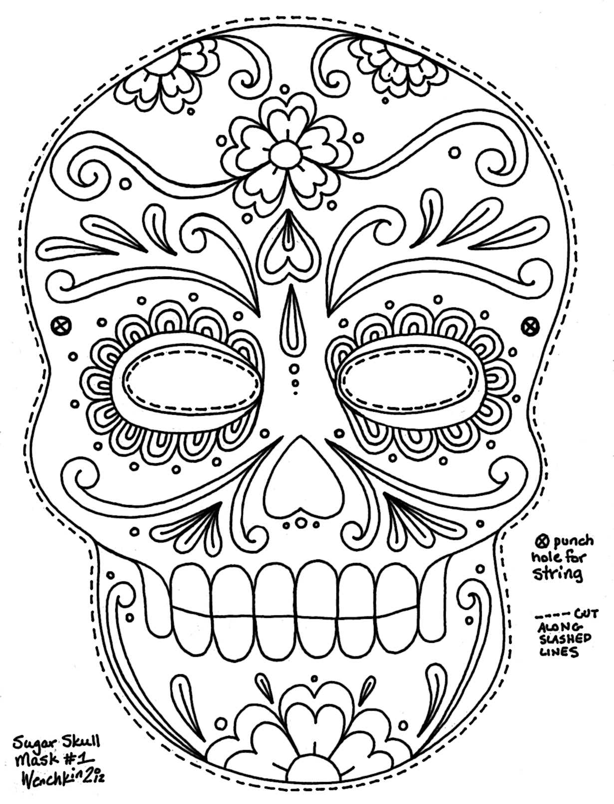 Mask coloring pages to download and print for free