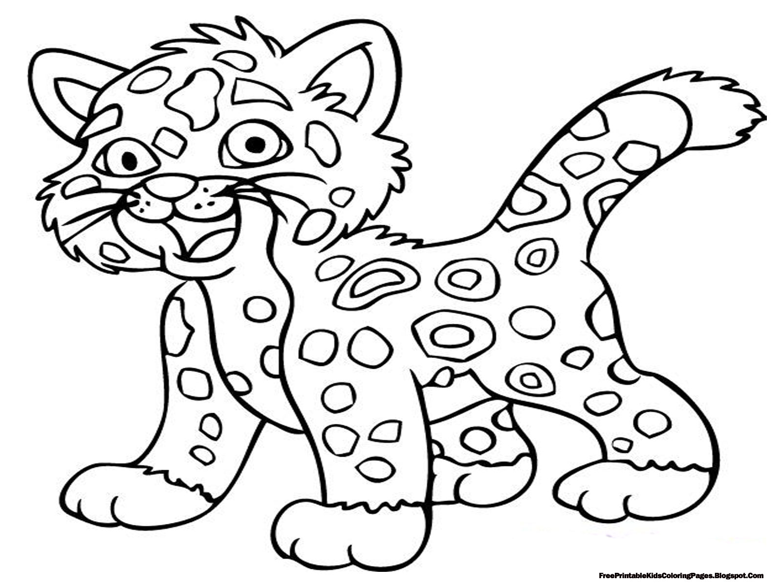 jaguar coloring pages - Printable Coloring Pages Of Animals
