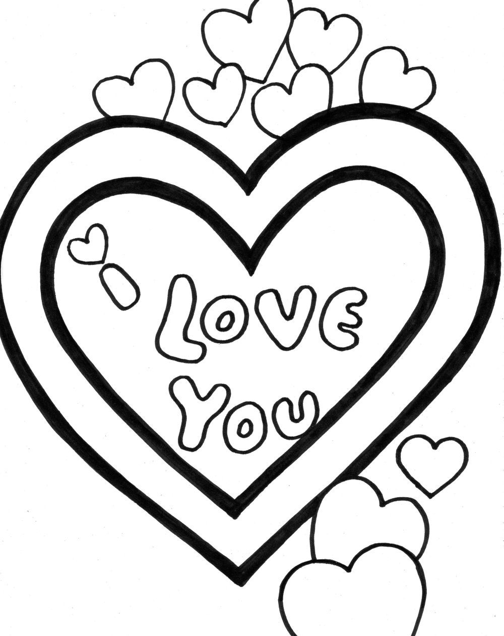 Adult Top I Love You Color Pages Images beauty i love you coloring pages to download and print for free gallery images