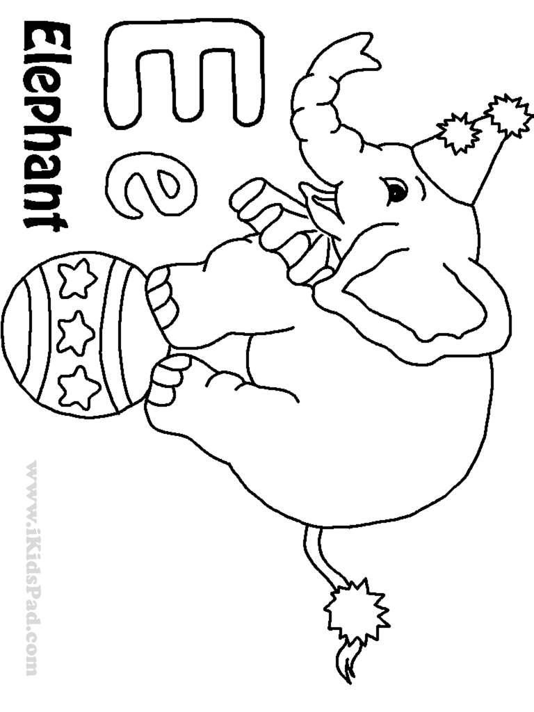 Letter e coloring pages to download