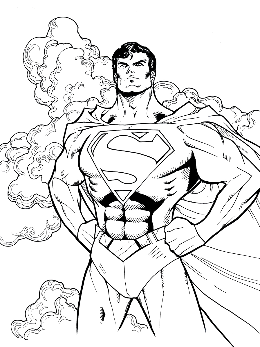 This is a graphic of Crazy Superman Coloring Pages Printable