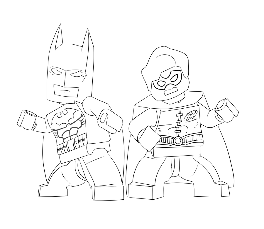 This is a graphic of Adaptable Lego Robin Coloring Pages