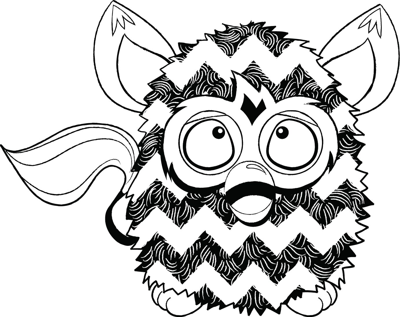 Furby Coloring Pages To Download And Print For Free
