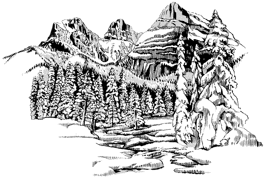 Landscape coloring pages to download