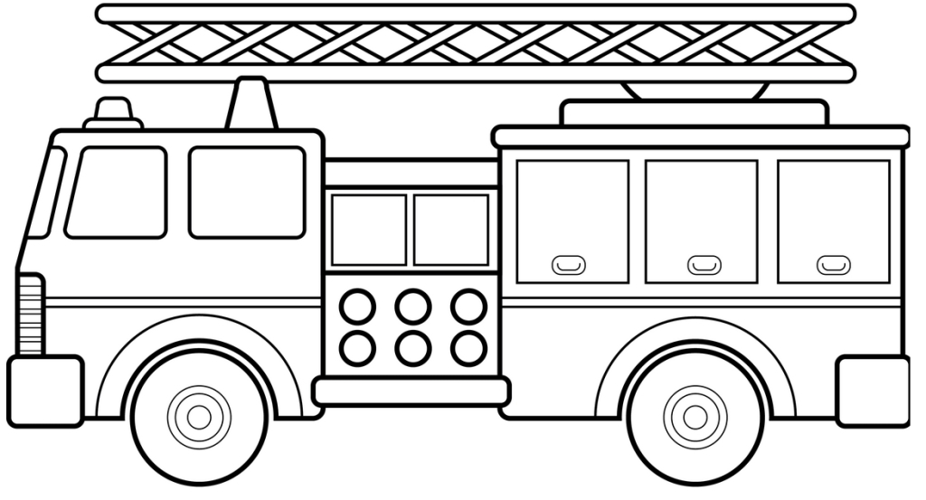 Fire truck coloring pages to download