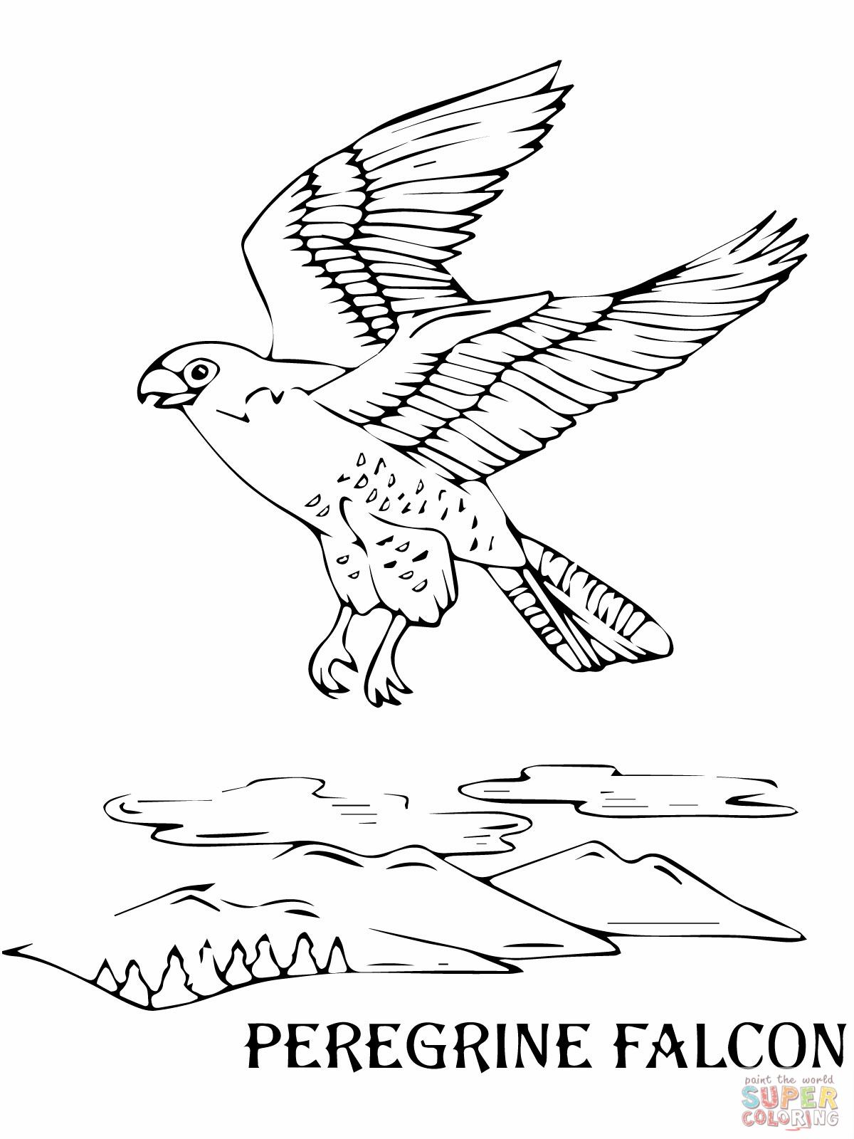 falcon coloring pages - photo#13