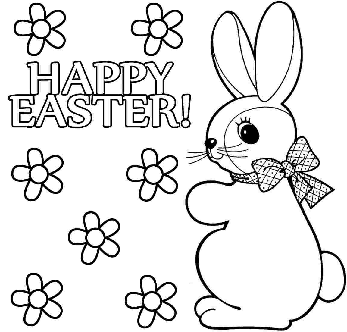 Easter bunny coloring pages to