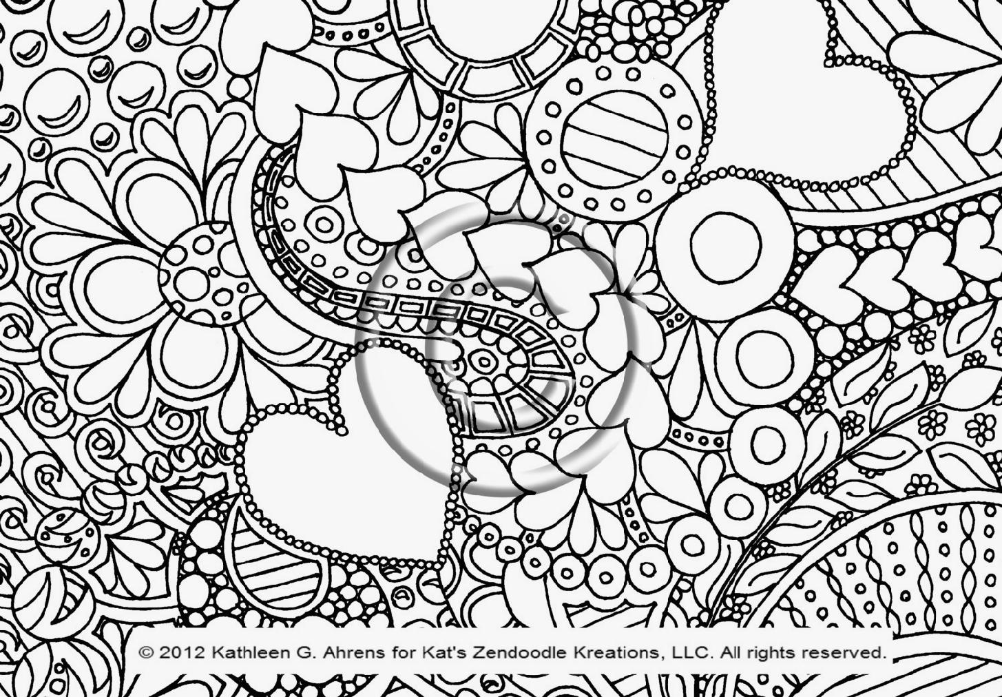Coloring Pages Art : Doodle coloring pages to download and print for free