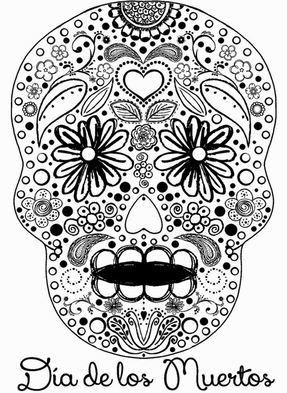 Free Worksheet Dia De Los Muertos Worksheets dia de los muertos coloring pages to download and print for free pages
