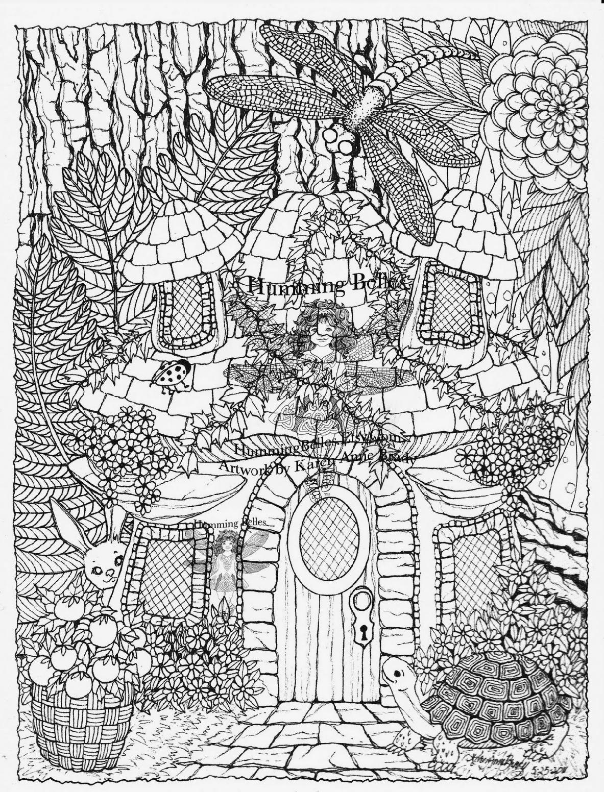 Coloring Pages For Adults Difficult Fairies : Detailed coloring pages to download and print for free