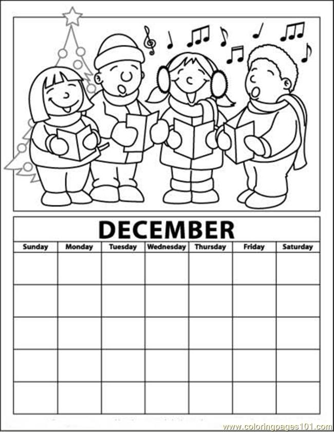 December coloring pages to download