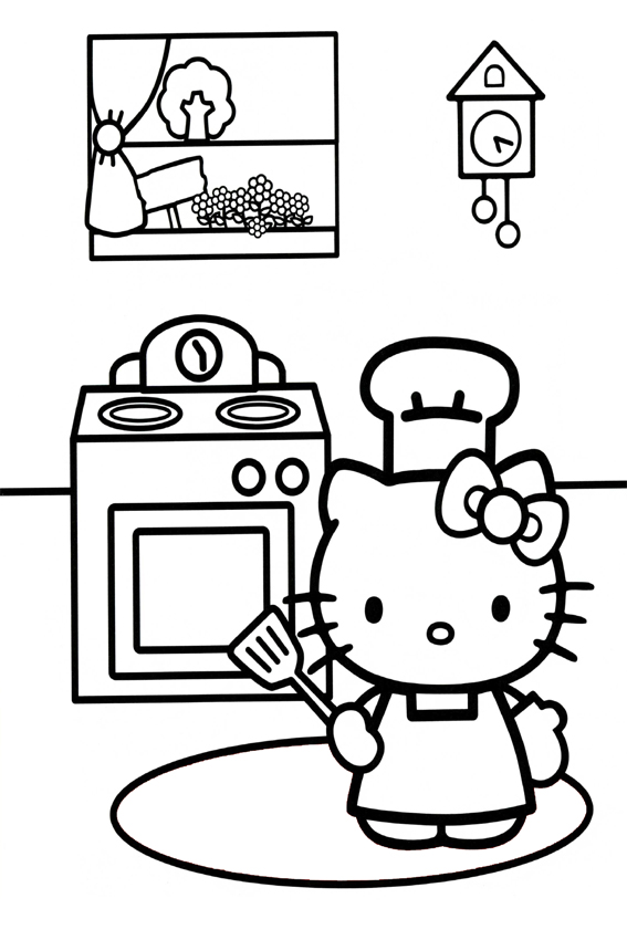 free cooking coloring pages - photo#15