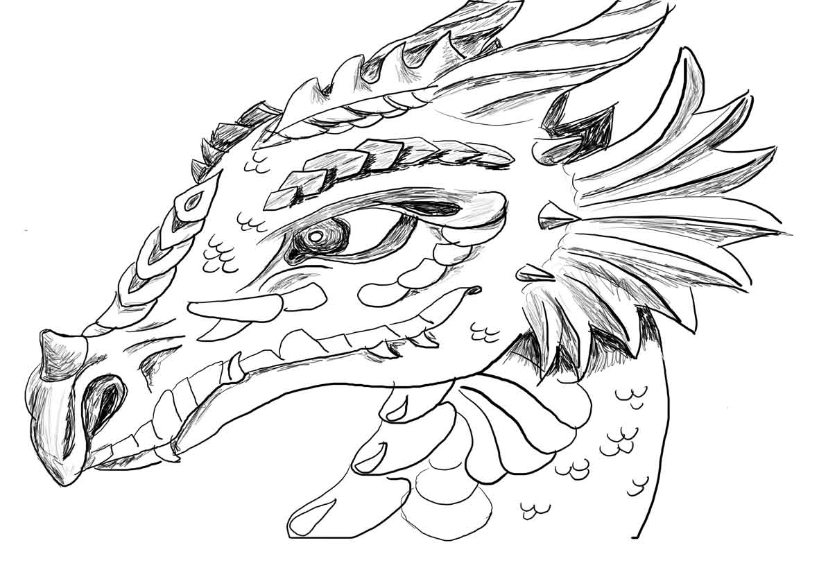 It is a picture of Persnickety Dragon Coloring Picture