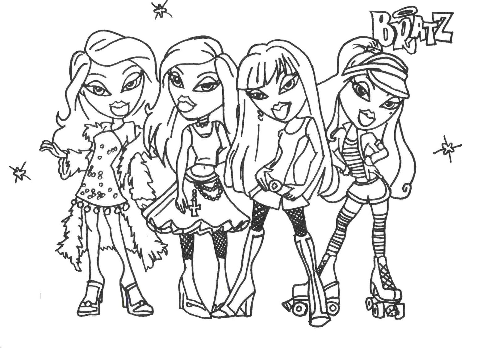 bratz doll coloring pages - bratz coloring pages to download and print for free