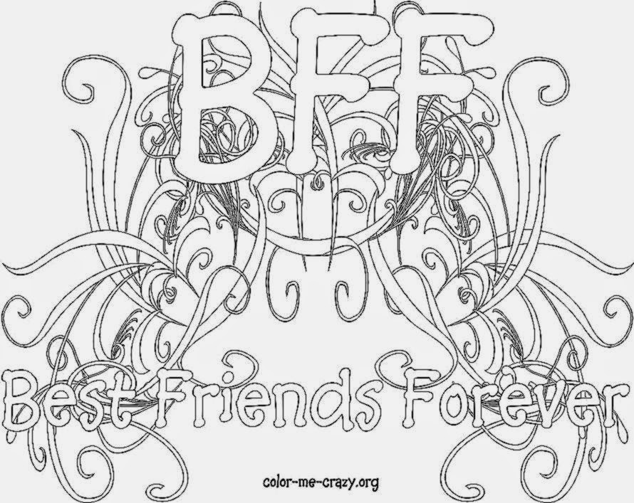 coloring pages about friendship - bff coloring pages to download and print for free