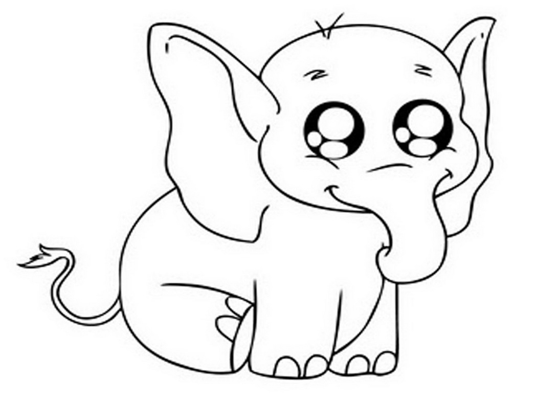 baby elephant coloring pages print - photo#21