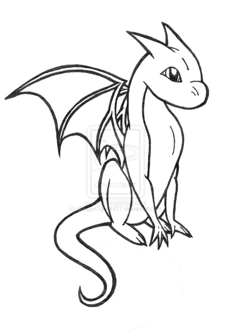 Baby dragon coloring pages to download