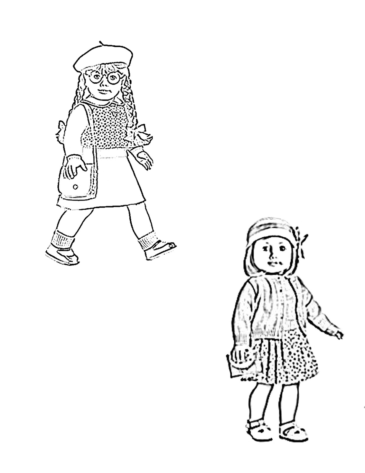 american girl printable coloring pages - photo#9