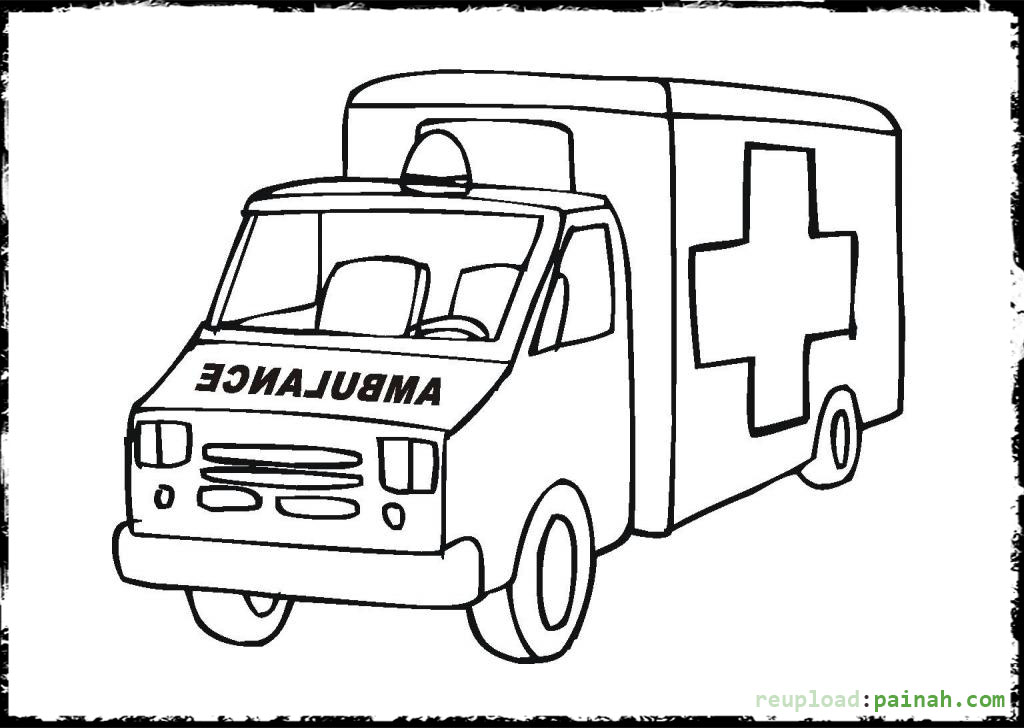 ambulance coloring pages - Ambulance Coloring Pages Print