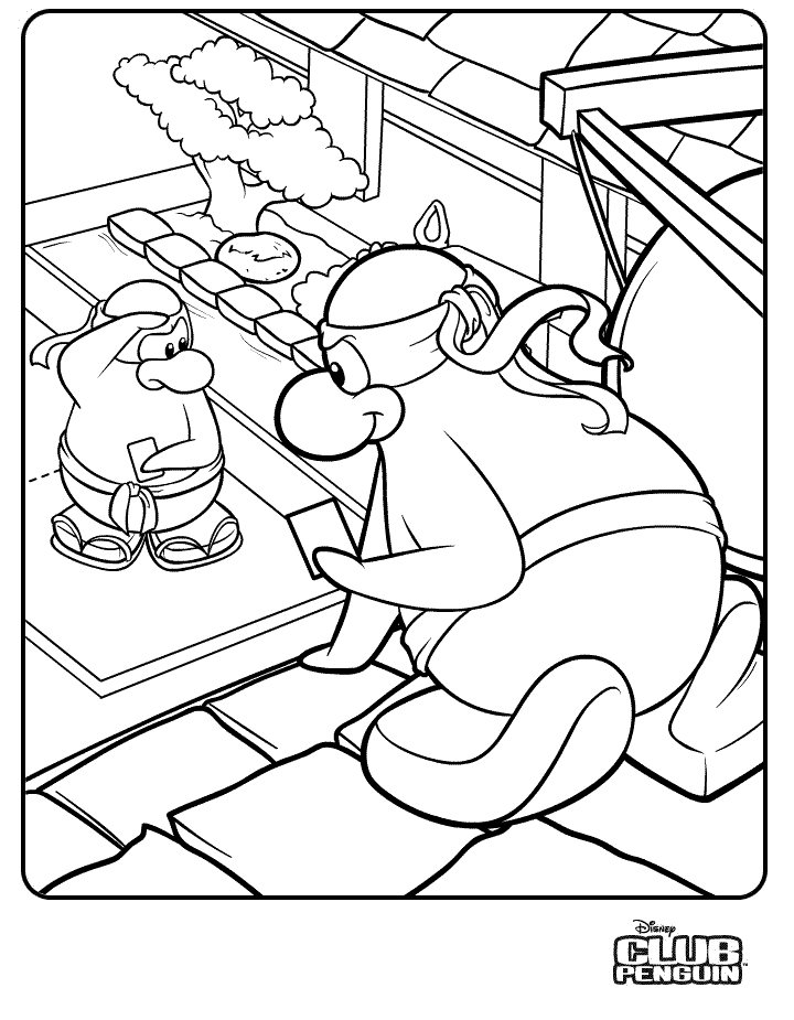 club penguin coloring pages to download and print for free - Club Penguin Coloring Pages Ninja
