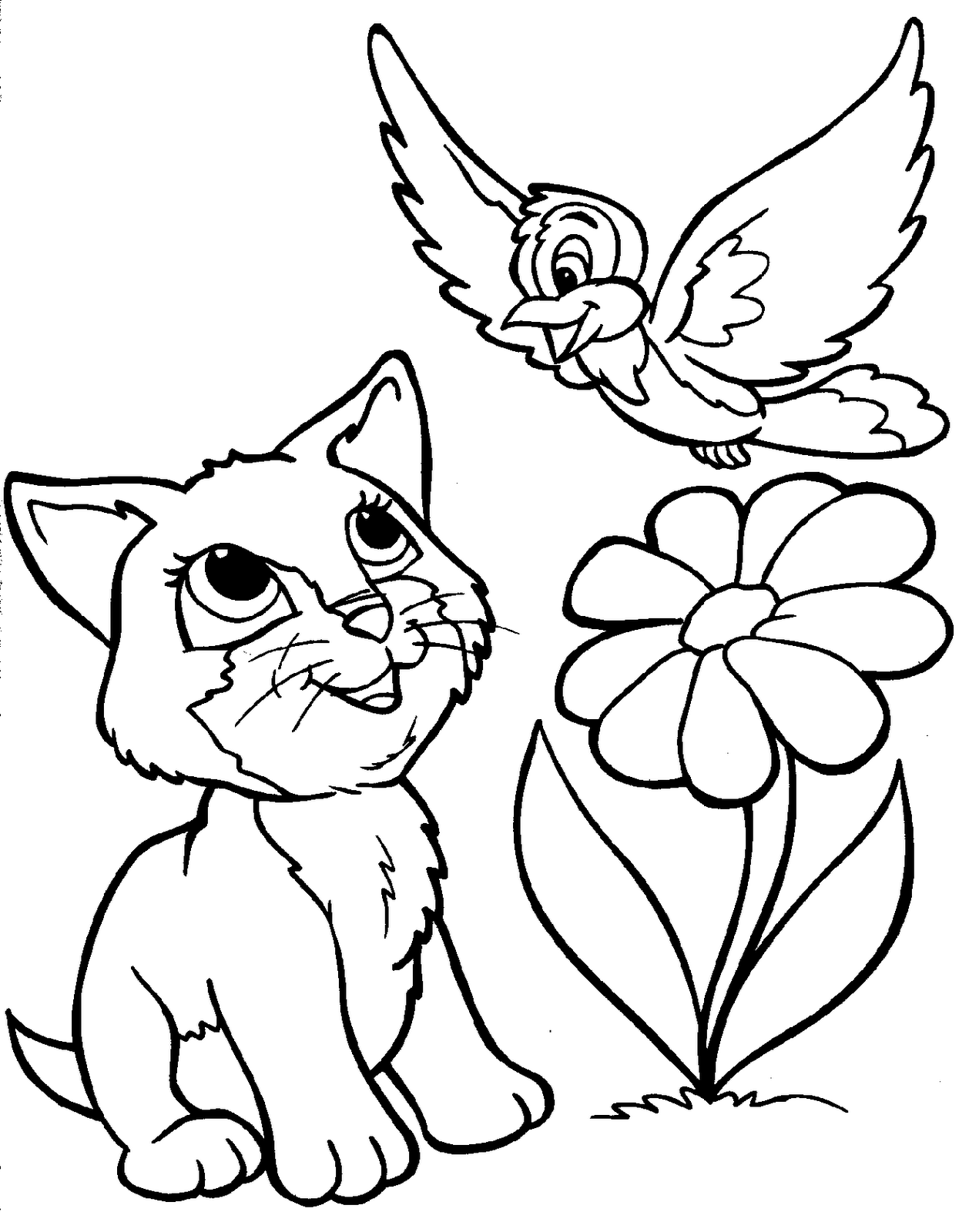 Cartoon animal coloring pages to download and print for free