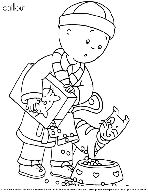 caillou online coloring pages - photo#40