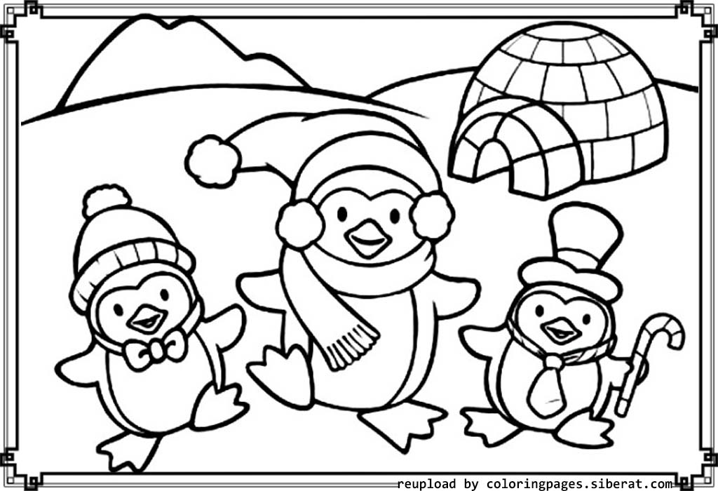 cartoon penguin coloring pages to print printable